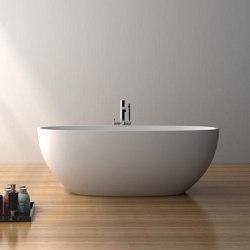 SOLID SURFACE | Nimes Freestanding Solid Surface Bathtub - 165cm | Bathtubs | Riluxa
