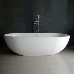 SOLID SURFACE | Nimes Freestanding Solid Surface Bathtub - 178cm | Bathtubs | Riluxa