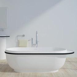 SOLID SURFACE | Oslo Freestanding Solid Surface Bathtub - 182cm | Bathtubs | Riluxa