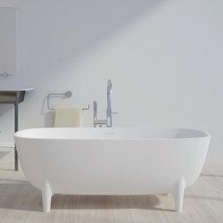 SOLID SURFACE | Oviedo Freestanding Solid Surface Bathtub - 160cm | Bathtubs | Riluxa