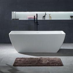 SOLID SURFACE | Palermo Freestanding Solid Surface Bathtub - 150cm | Bathtubs | Riluxa