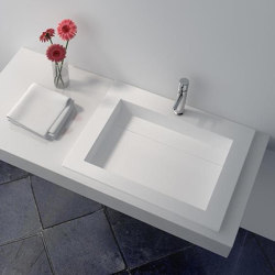 SOLID SURFACE | Peony Solid Surface Vanity Top | Wash basins | Riluxa