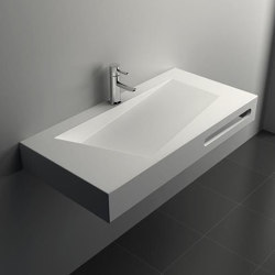 SOLID SURFACE | Quince Solid Surface Wall Mounted Washbasin | Wash basins | Riluxa