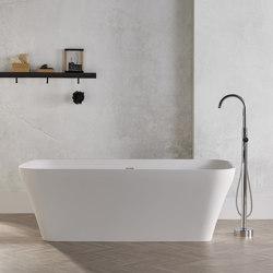 SOLID SURFACE | Silene Freestanding Solid Surface Bathtub - 170cm | Bathtubs | Riluxa