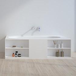 SOLID SURFACE | Toledo Freestanding Solid Surface Bathtub - 180cm | Bathtubs | Riluxa