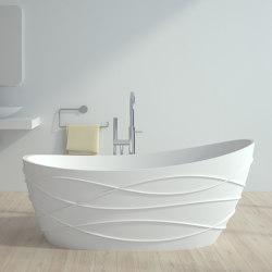 SOLID SURFACE | Venezia Freestanding Solid Surface Bathtub - 160cm | Bathtubs | Riluxa