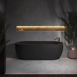 SOLID SURFACE | Zurich Freestanding Solid Surface Bathtub - 150cm | Bathtubs | Riluxa