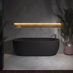 SOLID SURFACE | Zurich Freestanding Solid Surface Bathtub - 170cm | Bathtubs | Riluxa
