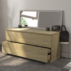 SOLID WOOD | Modulo Wood Freestanding Solid Oak Bathroom Cabinet | Bath side boards | Riluxa