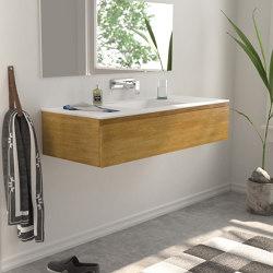 SOLID WOOD   Modulo Wood Wall Mounted Solid Oak Vanity Cabinet   Vanity units   Riluxa
