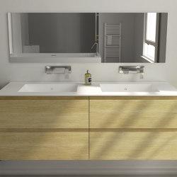 SOLID WOOD   Modulo Wood Wall Mounted Solid Oak Vanity Cabinet - 4 drawers   Vanity units   Riluxa