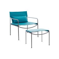Pool Outdoor Lounge armchair with ottoman | Armchairs | KFF
