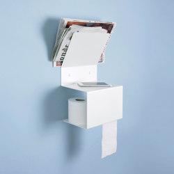 TEElette White Bathroom Steel Wall Shelf | Bath shelving | Teebooks