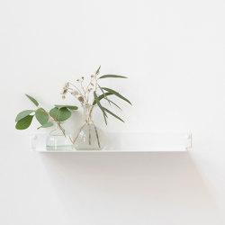 TEEline 45 cm Repisa de aluminio flotante para baño en blanco | Estanterías de baño | Teebooks