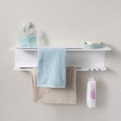 TEEtow 60 cm White Bathroom Steel Wall Shelf | Towel rails | Teebooks