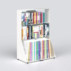 BiblioTEE Bibliothèque Blanche 60 Cm - Metal - 3 Niveaux | Étagères | Teebooks