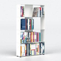 BiblioTEE Estanterias Librerias 60 Cm - Metal Blanco - 4 Niveles | Estantería | Teebooks