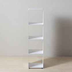 TEEtem 4 levels White Column storage | Shelving | Teebooks