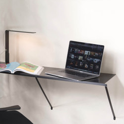 TEEall Consola de pared de acero negro | Estantería | Teebooks