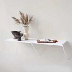 TEEall Consola de pared de acero blanco | Estantería | Teebooks
