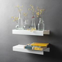 BigTEE 45 cm Estantería De Pared De Diseño - Metal Blanco | Estantería | Teebooks