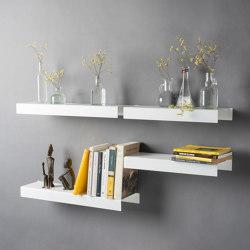 BigTEE  60 cm White Design Wall Shelf | Shelving | Teebooks