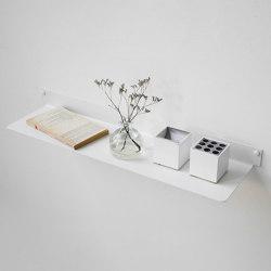 TEEline 60 cm Repisa de acero flotante en blanco | Estantería | Teebooks