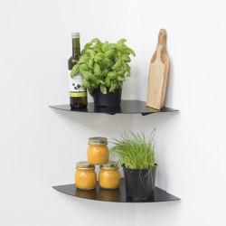 TEEgolo 36 cm Estante angular de aluminio gris para cocina - Juego de 2 estantes | Estantería | Teebooks