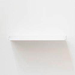 TEEline 60 cm Repisa de aluminio flotante en blanco para cocina | Estantería | Teebooks