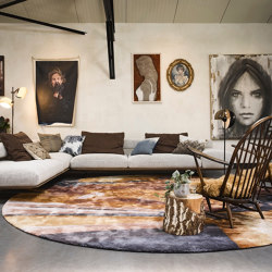 Project Special  | Sun Sea Surf (round) with a Eucalyptus and  Mohair special by Studio Jeroen van Zwetselaar | Rugs | Frankly Amsterdam