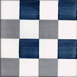LR CO Dama Dritta Bicolor 2 Blu Grigio | Carrelage céramique | La Riggiola