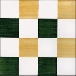 LR CO Dama Dritta Bicolor 2 Verde Arancione | Carrelage céramique | La Riggiola