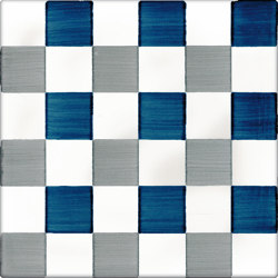 LR CO Dama Dritta Bicolor 3 Blu Grigio | Carrelage céramique | La Riggiola