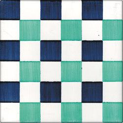 LR CO Dama Dritta Bicolor 3 Blu Verde | Carrelage céramique | La Riggiola