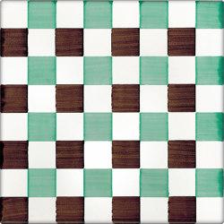 LR CO Dama Dritta Bicolor 4 Verde Marrone | Carrelage céramique | La Riggiola