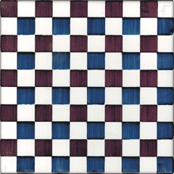 LR CO Dama Dritta Bicolor 5 Blu Marrone | Carrelage céramique | La Riggiola