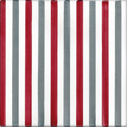 LR CO Righe Bicolor 10 Rosso Grigio | Carrelage céramique | La Riggiola