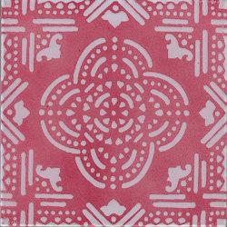 LR PO Madras Fondo Rosa Decoro Bianco | Ceramic tiles | La Riggiola