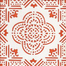 LR SC Madras Fondo Bianco Decoro Arancio | Ceramic tiles | La Riggiola