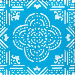 LR SC Madras Fondo Turchese Decoro Bianco   Baldosas de cerámica   La Riggiola