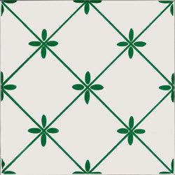 LR PO Linee e fiore verde oliva   Carrelage céramique   La Riggiola