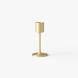 &Tradition Collect | Candleholder SC57 Brushed Brass | Candlesticks / Candleholder | &TRADITION