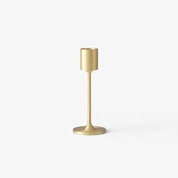 &Tradition Collect | Candleholder SC58 Brushed Brass | Candlesticks / Candleholder | &TRADITION