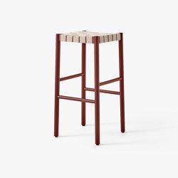 Betty TK8 Maroon w. Natural Webbing | Bar stools | &TRADITION