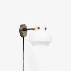 Copenhagen SC54 Opal Glass & Bronzed Brass | Wall lights | &TRADITION