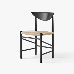 Drawn HM3 Black Lacquered Oak | Chairs | &TRADITION