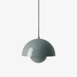 Flowerpot VP1 Stone Blue | Suspended lights | &TRADITION