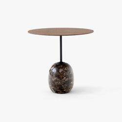 Lato LN9 Lacquered Walnut & Emparador Marble | Coffee tables | &TRADITION
