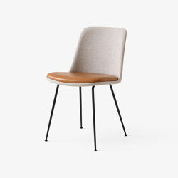 Rely HW10 Black w. Ruskin Elk & Cognac Leather | Chairs | &TRADITION