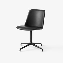 Rely HW13 & HW18 Black w. Black Silk Leather | Chairs | &TRADITION